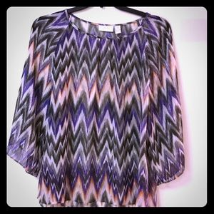 Chicos size 1 (medium) Sheer blouse